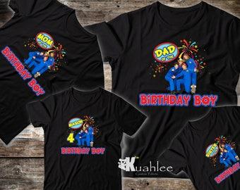 Imagination Movers Boy Birthday Party Shirt, Personalized shirts, Custom Family Birthday Set, Scott Dave Nina