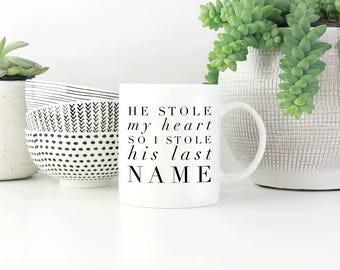 Engagement Mug, Newly Engaged Gift, Future Mrs. Mug,  Engagement Gift Mug, Soon to Be Mrs Mug, Engaged Mug, Brides Coffee Cup