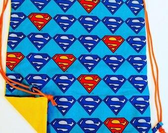 Superman Reversible Drawstring Bag