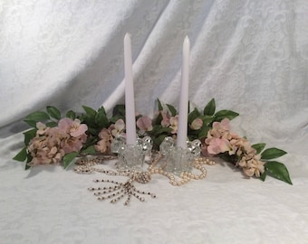 Bleikristall Lead Crystal Cut Candle Holders, Germany