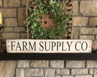 Farm Supply Co sign, farmhouse sign, Farm market sign, feed and seed sign