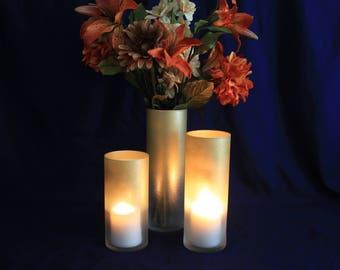 Gold Candle Holder, Gold Glitter Candle Holder, Glitter Candle Holder, Gold Wedding Centerpiece, Wedding Centerpiece, Glitter Centerpieces