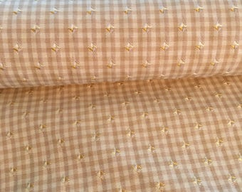 Yellow checked fabric by Stroheim and Romann
