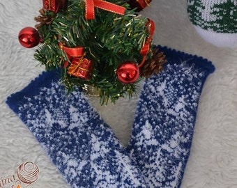 Knitted mittens Mittens for women Mittens pattern Mittens, Buy mittens are warm Mittens Double mittens  Mittens blue Christmas, handmade,