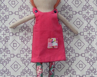 Ginger: Handmade Cloth Doll