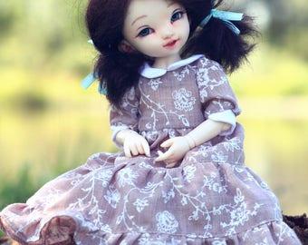 Floral dress for LittleFee 1/6 bjd doll