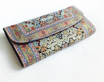 Unique wallet, Vegan wallet women, Unique women's wallet, Ethnic wallet, Tribal wallet, gypsy wallet, hippie wallet, bohemian wallet