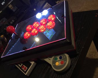 Retropie Arcade Stick w/ Built in Raspberry Pi and 2 Blutooth Nes Pro Controllers
