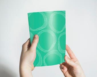 Notebook, sketchbook, journal, notepad, green notebook, blank notebook, gift, blank lined,blank unlined