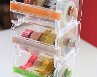 Washi Tape Dispenser Storage Case / Tape Holder /Masking Tape Organizer / Tape Cutter / Tape Dispenser