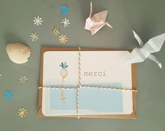 """""""Thank you"""" card little flower"""