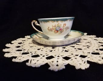 Vintage Hira China Demitasse Teacup and Saucer Set
