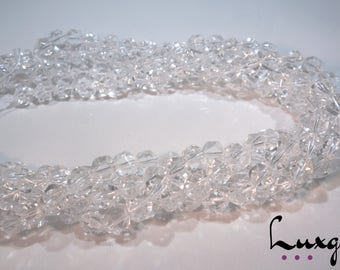 Clear Crystal Quartz - 8mm, 10mm, 12mm - Faceted round beads - Natural gemstone - Manufacture offers  - CQ001/CQ002/CQ003