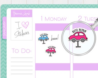 Car Repair Stickers, Planner Stickers, Calendar Stickers, Auto Repair Stickers, Small Kawaii Stickers, Icon Stickers, Labels