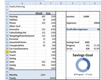 basic budget spreadsheet