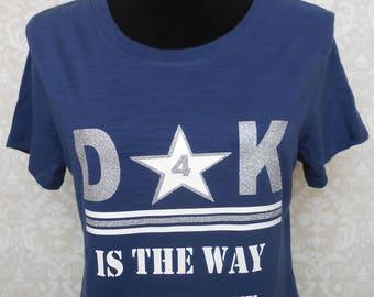 COWBOYS|FOOTBALL|T-shirt Womens|Cowboy Fan|T-shirt Personalized|Football Shirt|Custom Sport Tshirt|DALLAS Cowboys|Romo|Dak|zeke