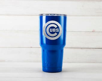 Yeti Tumblers Engraved With Chicago Cubs Personalized Yeti Tumblers 20 oz Chicago Cubs Yeti Gift For Men Chicago Cubs Yeti Rambler 30 oz