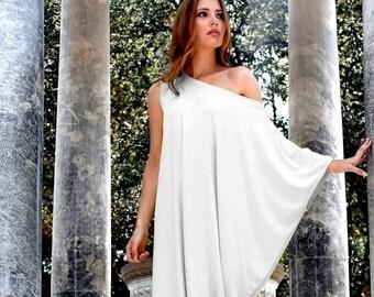 White Maxi Dress, White Kaftan, Asymmetrical dress, Plus Size Dress, Oversize Loose Dress, Kaftan Dress, Long Oversize dress, Markiiza
