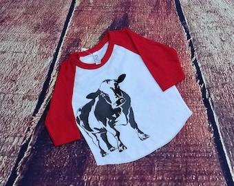 Miss. C  Infant Cow Shirt