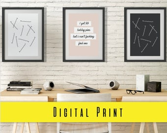 Digital Print Beauty BOBBY PINS Trio  Print Digital Download Wall Art Prints Photography Prints Home Decor Prints