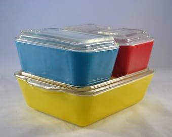 Primary Color Pyrex Fridgie Set