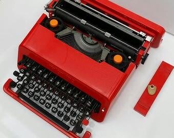 Typewriter. Olivetti Valentine. Design Classic.