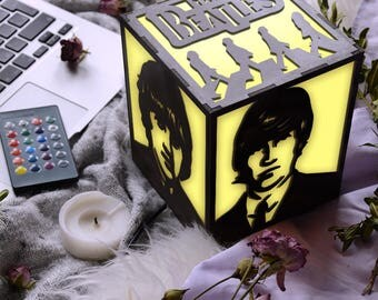 Beatles gifts, small desk lamp, Music lover gift, The Beatles art, The Beatles party, Beatles baby, Beatles wedding, Beatles Abbey road