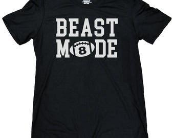 Beast Mode Football Shirt - Personalized Football Shirt - Unisex Personalized Football Shirt - Game Day Shirt - Football - Youth Football