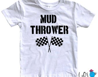 Dirt Racing Toddler Shirt - Future Mud Thrower Toddler T-Shirt  - Toddler - Dirt Racing Fans - BMX - Motocross - Race Day Tee - ATV Racing