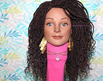 "READY TO SHIP // Synthetic crochet wig ""Seneglease Twist n Wave Beauty"""