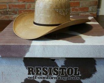 Resistol Whiskey Wildman Wheat Straw Cowboy Hat