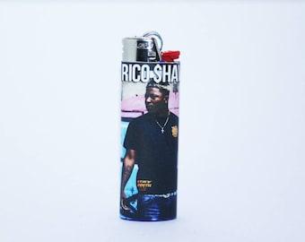 Rico Shaw Custom Made Bic Lighter - High Quality - Handmade - Graffiti Background
