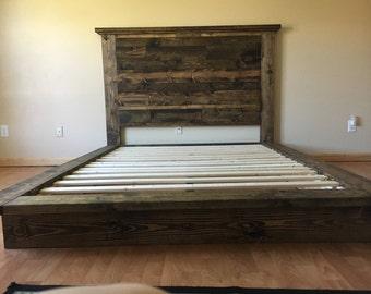 Kraftig Platform Bed With Tennesee Cedar Headboard