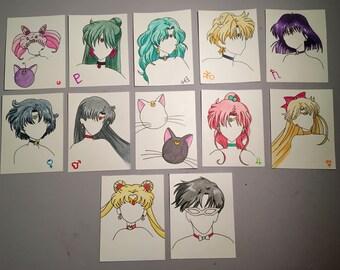 Sailor Senshi Watercolor