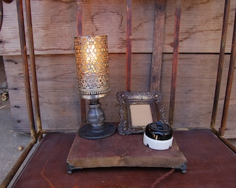 SteamPunk lamp featuring a Vintage Bakelite/Porcelain switch
