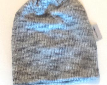 Toddler beanie / Slouchy baby beanie / Hipster toddler boy slouch beanie, Grey stub hipster beanie, Slouchy knit hat,Infant beanie
