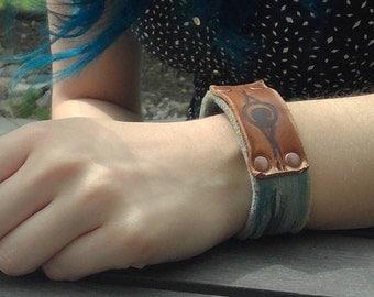 Leather Bracelet - Leather Cuff - Distressed Leather Cuff - Men's Leather Cuff Bracelet - Women's Leather Cuff Bracelet - Leather Jewelry