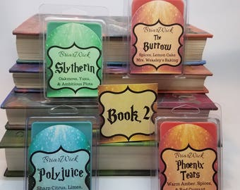Harry Potter Wax Melts Set- Book 2- The Chamber of Secrets, Inspired by the Harry Potter series