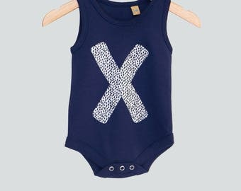 Baby X Spotted Onesie