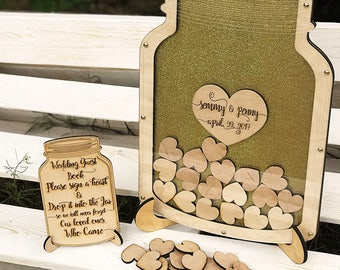 Wedding Guest Book, Wedding Guest Book Alternative, Mason Jar Guest Book, Drop Box, Wedding Mason Jar, Wedding, Mason Jar Alternative Guest