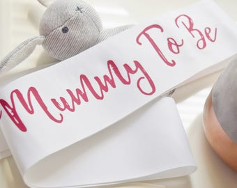 Mummy To Be Baby Shower Sash Personalised