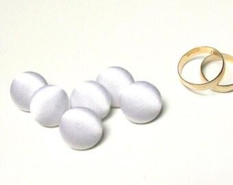 Wedding white silk satin buttons, fabric sewing buttons, white wedding, bride bridal dress sew buttons, white silk charmeuse