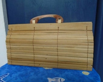 Bamboo - 80s - bag lined with inner pocket bag