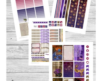 Custom Order for TansyBradshaw - Shakespeare Theatre - for BIG Happy Planner - Weekly Layout Sticker Kit with Cut Files - Play, Literature