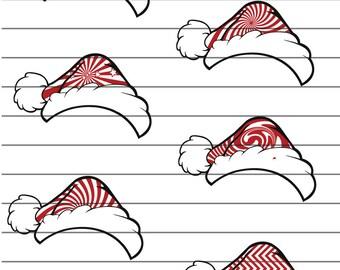 11 Bundle SVG, Christmas svg, Santa Hat SVG, Santa hat, Santa Hats Clipart, Santa Hats Monogram Frames Cut Files for Cricut, Silhouette
