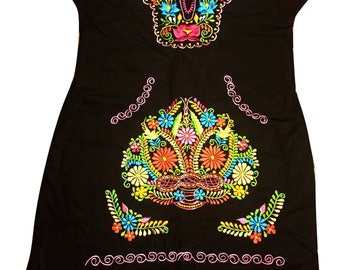 Mexican embroidered dress 09