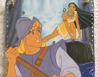 Disney Pocahontas and John Smith Handmade Hanging Plaque