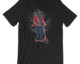 Gasmask Scooter Rider Short-Sleeve Unisex T-Shirt