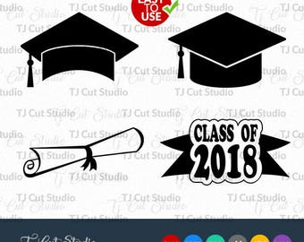 Graduation SVG, Class of 2018 SVG Graduation Cap SVG, Graduation Caps monogram frame,