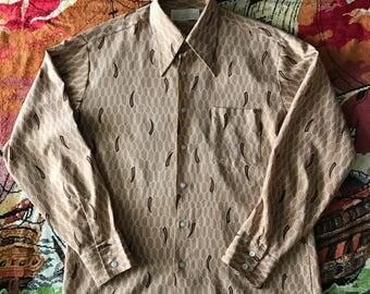 1970s textured polyester shirt